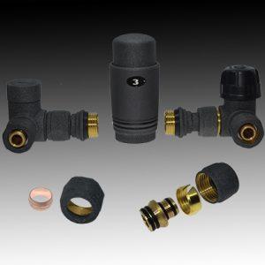 Радиаторен сет CAYMAN-5T  BLACK 1/2″ х ф16 и 1/2″ х 15мм