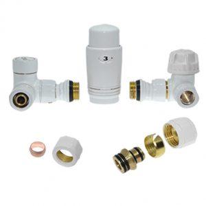 Радиаторен сет CAYMAN-5T  WHITE 1/2″ х ф16 и 1/2″ х 15мм