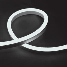 Гъвкав неонов LED маркуч 12W/m, 24V, IP65, студено бял