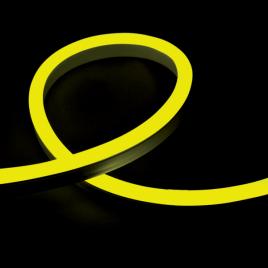 Гъвкав неонов LED маркуч 12W/m, 24V, IP65, жълт