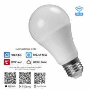 WIFI Smart LED крушка, 8W E27 RGB+4200, 220-240V AC