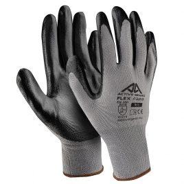 Ръкавици полиестер-черен нитрил, Active FLEX F3220, 10/XL размер