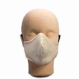 Многократна маска за лице от два слоя памук, бяла