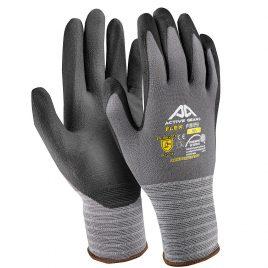 Ръкавици найлон/спандекс-черна дишаща нитрилна микро пяна с пъпки, Active FLEX F3130, 10/XL размер