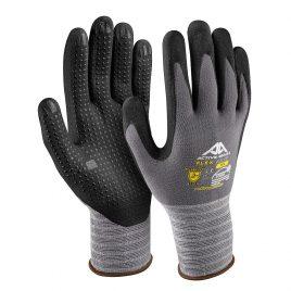 Ръкавици найлон/спандекс-черна дишаща нитрилна микро пяна с пъпки, Active FLEX F3140, 10/XL размер