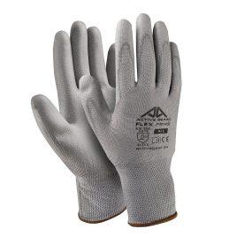 Ръкавици полиестер-сив полиуретан, Active FLEX F8150, 10/XL размер