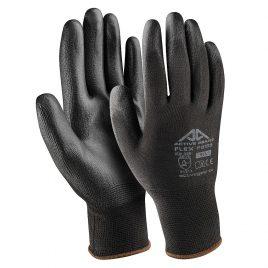 Ръкавици полиестер-черен полиуретан, Active FLEX F8160, 10/XL размер