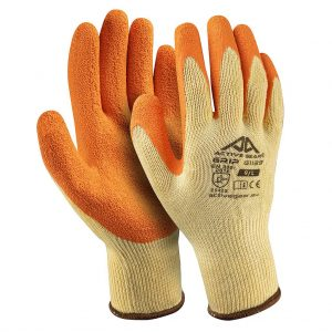 Ръкавици полиестер, оранжев набръчкан латекс, Active GRIP G1140, 10/XL размер