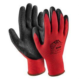 Ръкавици полиестер, черен набръчкан латекс, Active GRIP G1170, 10/XL размер