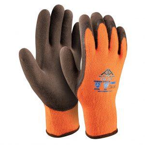 Ръкавици акрилно букле, пясъчен кафяв латекс, Active ICE I1120, 10/XL размер