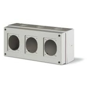 672.1300. Табло за 3бр./ индустриален контакт 16А (70х87мм) и 32A, (84х106мм) SCAME