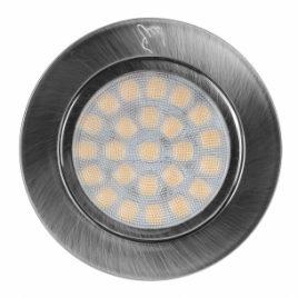 Мебелна TOUCH LED луна за вграждане сатиниран никел, 2W, 4200K, IP44, 12V