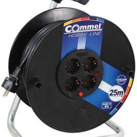 Макара черна 25м IP20 H05VV-F 3G2.5mm2 термична защита 4 шуко Commel