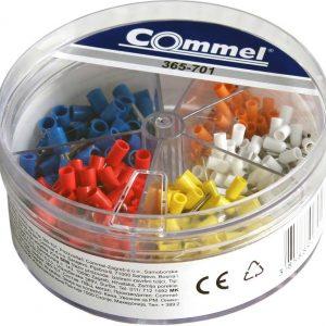 Кутия с кабелни накрайници 0,5мм2-50, 0,75мм2-100, 1мм2-100, 1,5мм2-100 и 2,5мм2-50 броя Commel