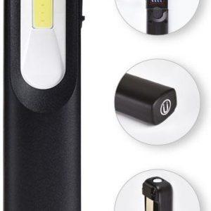Работна преносима LED лампа 3W+3W COB 250lm с батерия 3.7V 1200 mAh USB charger IP44 Commel
