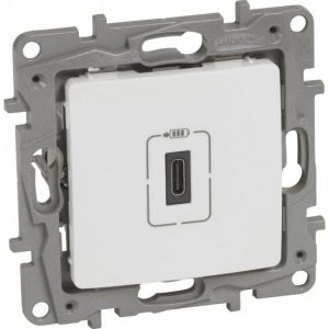 764593. Розетка USB тип C Niloe, бял